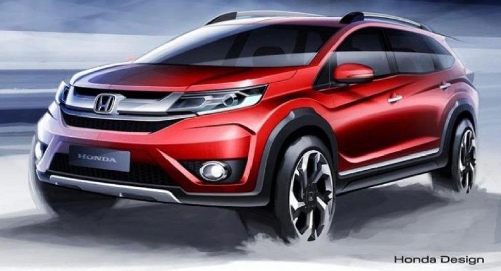Honda показала эскизы нового кроссовера BR-V