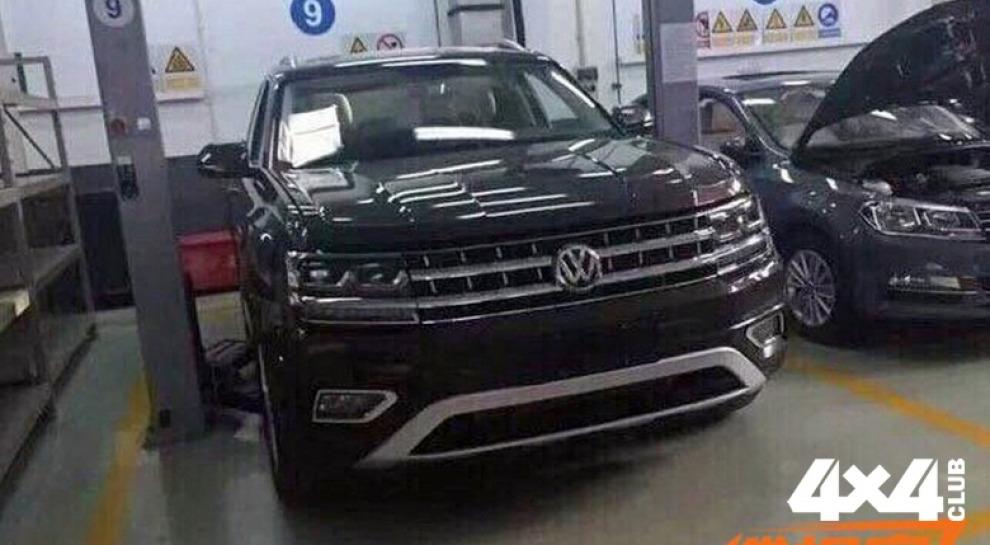 Большой кроссовер Volkswagen засветился на видео