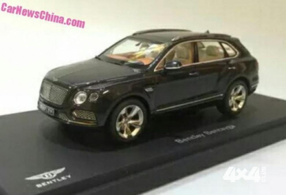 Внешность Bentley Bentayga больше не секрет из-за игрушки