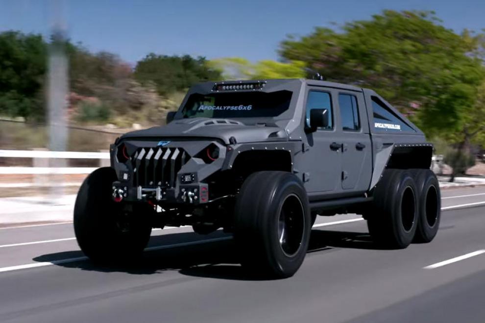 Apocalypse Manufacturing строит уже 80-й Jeep Gladiator «Адский огонь апокалипсиса 6x6»