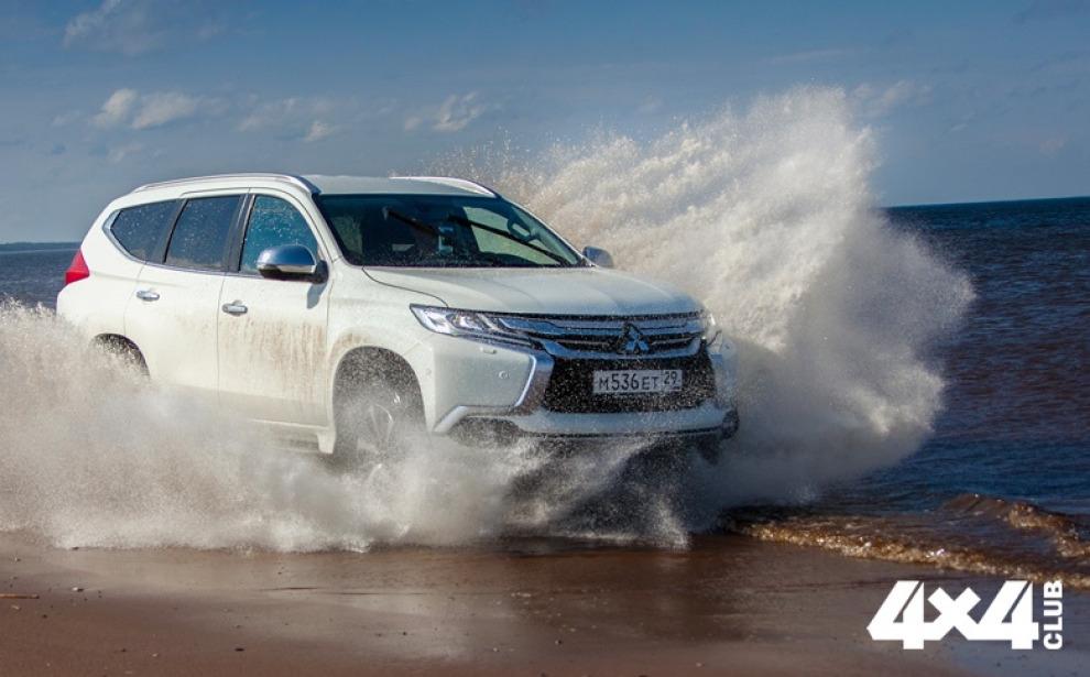 Новый Mitsubishi Pajero Sport в алмазных копях Архангельска