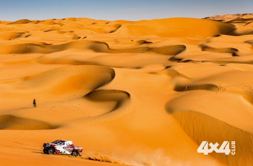 Ралли-рейд по пустыне Руб-эль-Хали заставляет экипажи внедорожников и квадроциклов выйти за пределы выносливости