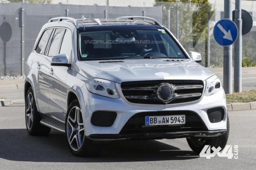 Mercedes GLS уже почти без маскировки