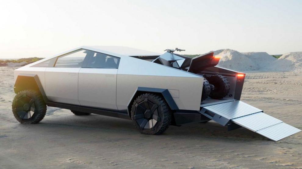 Пикап Tesla Cybertruck получит диковинные опции