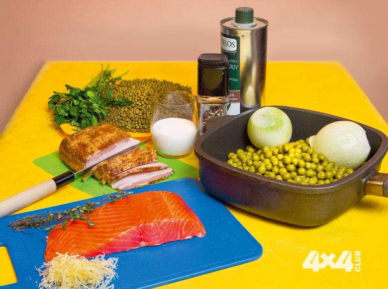 Изысканная кулинария путешественника. Лёгкий суп с горохом и копчёной рыбой