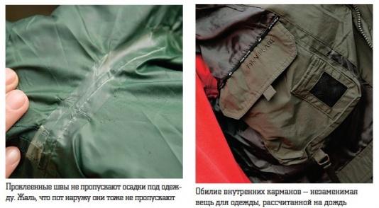 Влаго-, ветронепроницаемая одежда