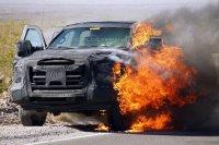 В Долине смерти сгорел Ford Super Duty