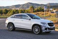 Mercedes GLE Coupe попался почти без камуфляжа