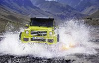 Первое видео с Mercedes G 500 4×4²