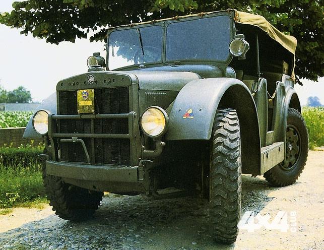 Необычные итальянские армейские грузовики времен Второй мировой войны с трогательным названием SPA